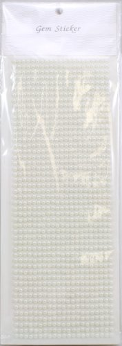 Kel-Toy Pearl Stickers, 4mm, 1029 Pieces Per Sheet, Ivory (Strips Rhinestone Adhesive)