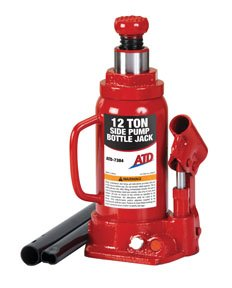 ATD Tools 7384 Hydraulic Bottle Jack - 12 Ton Capacity by ATD