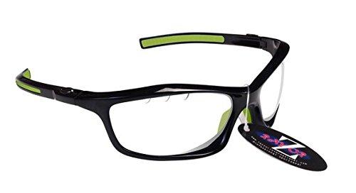 RayZor Professional Lunettes de soleil de sport Noir UV400Randonnée, ultra léger avec un Transparent anti-reflet ventilé Objectif
