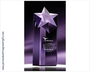 ANEDesigns Engraved Crystal Rising Star Tower Award ()