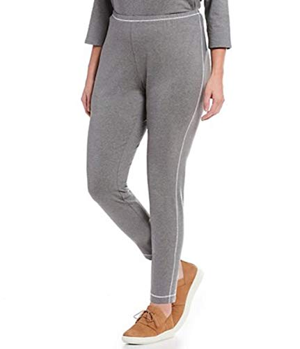 Eileen Fisher Plus Moon Heathered Organic Cotton Stretch Leggings Size 3X MSRP $138