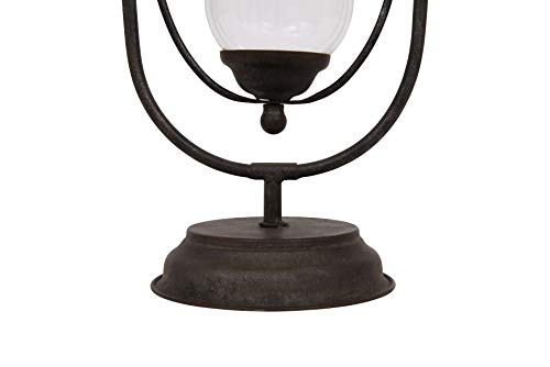 Creative Co-op Decorative Antique Gold Metal White Sand Hourglass,