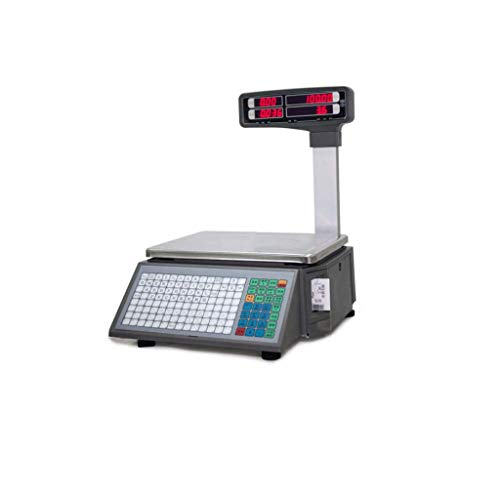 Zyy Báscula Electrónica, Pantalla LED De Alta Definición De Doble Cara Etiqueta De Código De Barras De Goma 30kg15kg...