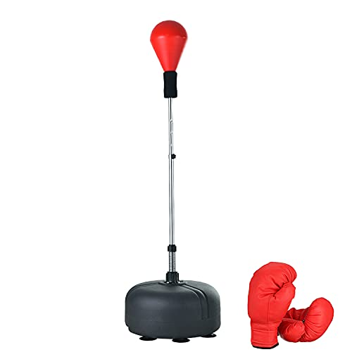 Punching Bag with Stand, Reflex Boxing Bag for Adults and Teenagers, Freestanding Speed Bags with Adjustable Height…