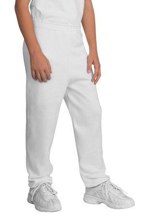 Port & Company - Youth Sweatpant, PC90YP, White, M ()