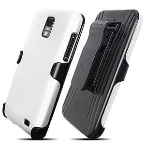 Samsung Galaxy S II Skyrocket SGH-i746 Protex Rugged Case, White/Black