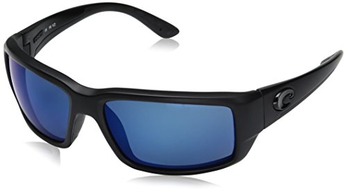 Costa Del Mar Fantail Sunglasses, Blackout, Blue Mirror 580 Plastic Lens
