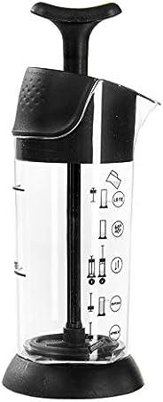Espumador De Leite Pressca preto, Leite Cremoso, BPA Free, 200 ml, Mixer, Cremeira.