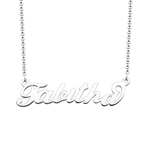 Tabitha Jewelry Box - JewelryJo 925 Sterling Silver Personal Name Necklace Semi-Custom Made Customized Personalized Gift for Tabitha
