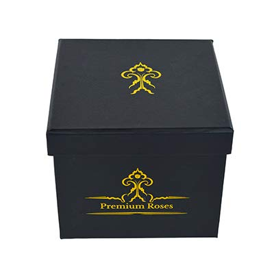 Premium Roses | Model Posh | Real Roses That Last 365 Days | Roses in a Box| Fresh Flowers (Black Box, Medium) by Premium Roses (Image #2)