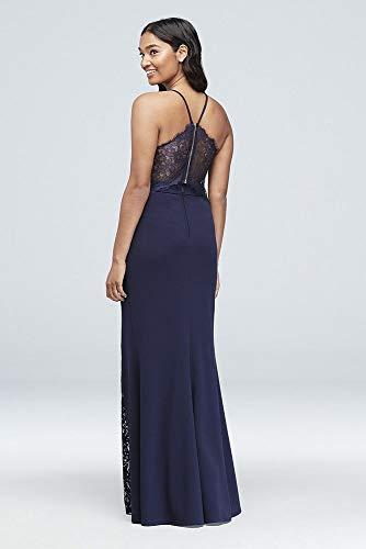 ca6e3eba21 Lace Racerback Scuba Crepe Mermaid Gown Style 7711PX5C at Amazon Women s  Clothing store