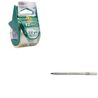 (KITBICGSM11BKDUC07307 - Value Kit - Duck EZ Start Carton Sealing Tape/Dispenser (DUC07307) and BIC Round Stic Ballpoint Stick Pen (BICGSM11BK) )