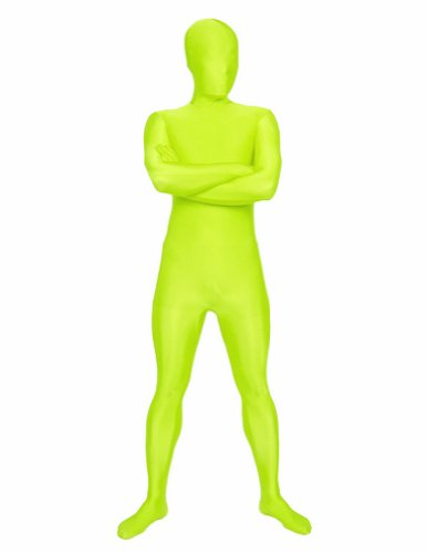 Full Body Color Suit (SecondSkin Men's Full Body Spandex/Lycra Suit, Highlighter, Medium)