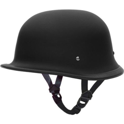 Daytona German D.O.T. Approved Cruiser Touring Motorcycle Helmet - Dull Black - X-Large