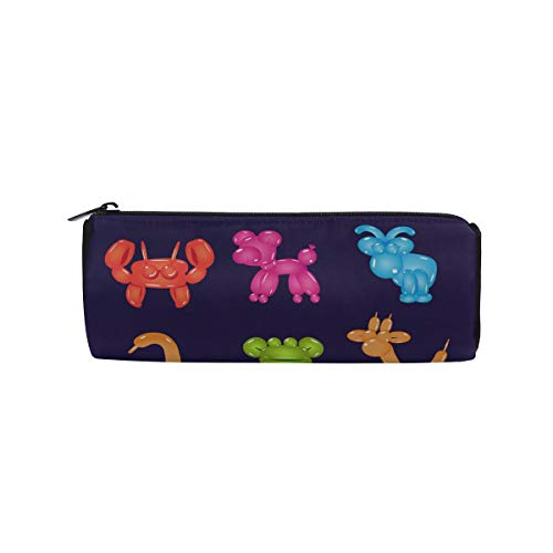 Balloon Insects and Pets Students Super Large Capacity Barrel Pencil Case Pen Bag Cotton Pouch Holder Makeup Cosmetic Bag for Kids