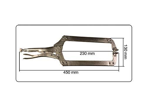 150 275 et 450 mm avec levier de d/égagement rapide en acier nickel/é. Lot de 3 pinces pince de blocage