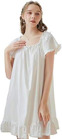 COSOSA Women's Nightgown Sleep Dress Short Sleeve Nightshirts Loose Loungewear