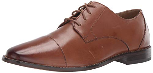 Florsheim Men's Montinaro Cap Toe Dress Shoe Lace Up Oxford, Saddle Tan, 14 D ()