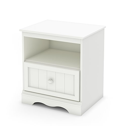 Savannah Collection Nightstand - Pure White by South Shore (Campaign Chest)