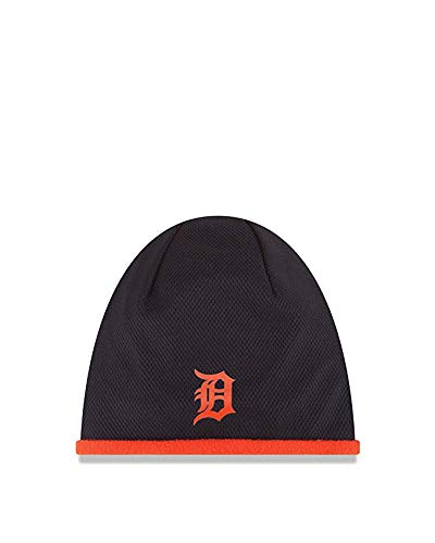 MLB Detroit Tigers Road 2015 Tech Knit Beanie, Blue, One Size Fits All