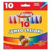 Playskool Jumbo Crayons, non-toxic, 10 count B00EDXK4ME