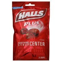 Menthol Syrup - Halls Soothing Syrup Center Cherry Flavor Menthol Drops 25 ea