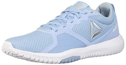 Reebok Women's Flexagon Force Cross Trainer, Denim Glow/White/Silver, 8.5 M US (Best Training Shoes For Women)