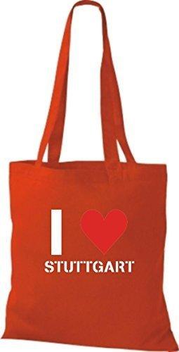 Shirtinstyle - Bolso de tela de algodón para mujer - bright red