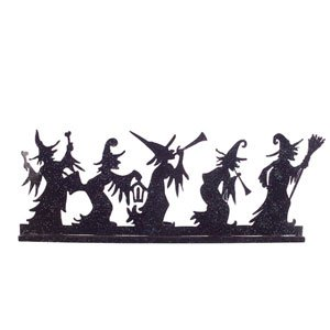 Large Metal Tealight Screen Halloween Decoration - Witches Halloween Direct