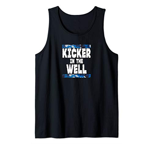 Kicker in the Well Blue Camo Tank Top