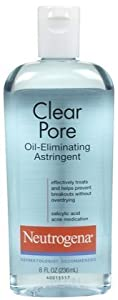 Neutrogena Clear Pore Oil-Eliminating Astringent-8 oz (Quantity of 6)