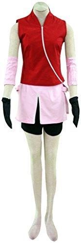Dazcos Naruto Shippuden Sakura Haruno Casual Cosplay Costume (women xs) (Female Cosplay)