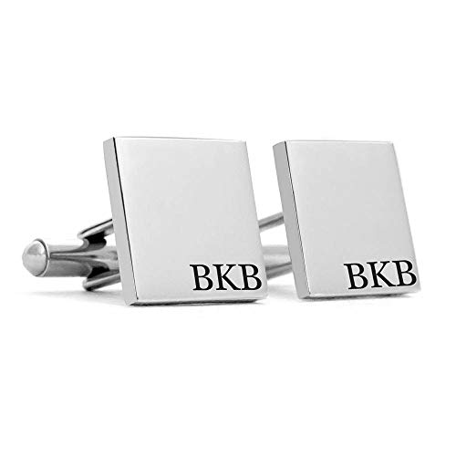 Personalized Cufflinks for Men 925 Sterling Silver Custom Made Letters,Mens Gifts