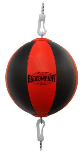 Profi PU Doppelendball schwarz / rot - Durchmesser ca. 38cm inkl. elastischen Spanngurten