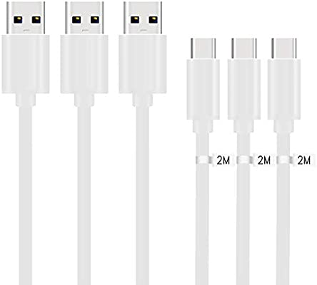 Kit Me Out Cable Micro USB Cable [3 Pack] [2M] 2 Metro para Lenovo ...