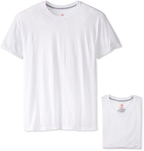 Hanes Ultimate Men's 4-Pack FreshIQ Comfort Blend Crew, White, Large