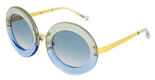 LINDA FARROW MARKUS LUPFER Round Oversized Blue Green Glitter ML6 - Sunglasses Oversized Farrow Linda
