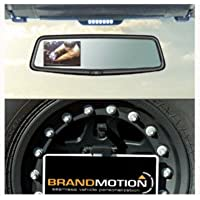 Brandmotion 9002-8846 Jeep Wrangler Adjustable Rear Vision System with OEM Mirror Display (2007-Current)