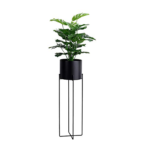 JOANNA'S HOME Metal Plants Stand Tall Indoor Outdoor Decor Plant Pot with Stand Rust Resistant Potted Flower Stands Display Rack 27 Inch - Black (Planter Corner Stand)