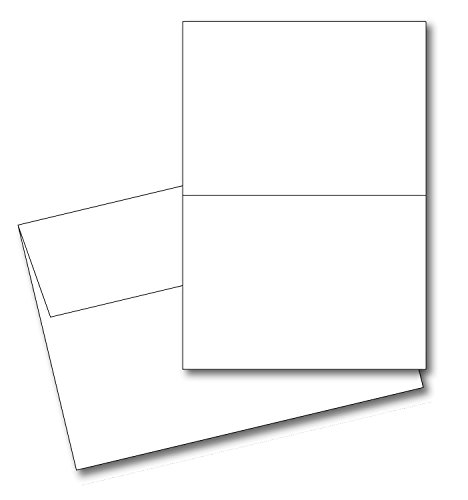 50 Cards Blanks (50 Blank Greeting Cards & Envelopes 5x7 A7 White - 65lb.)