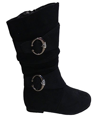 EyesOnStyle Girls Slouch Comf Tall Midcalf Suede Winter Boots Shoes