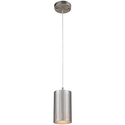 Contemporary Brushed Nickel 1 Light Pendant