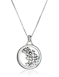 """Sterling Silver """"Live Your Own Life Follow Your Own Star"""" Pendant Necklace, 18"""""""