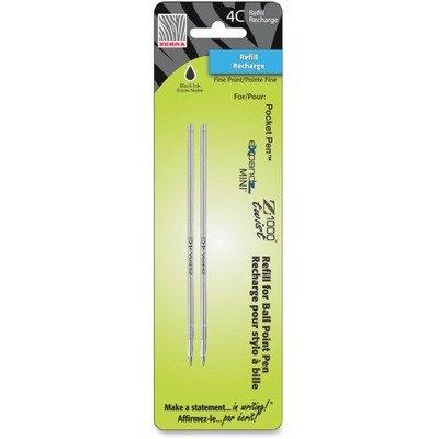 4C-Refills for Pocket Pen Pens - Fine, Black Ink, 2/pack(sold in packs of 3) (4c Pocket Pen)