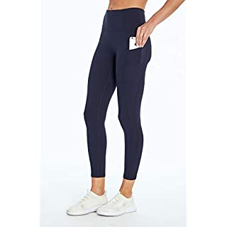 Jessica Simpson Sportswear Tummy Control Pocket Ankle Legging, Midnight Blue, Large
