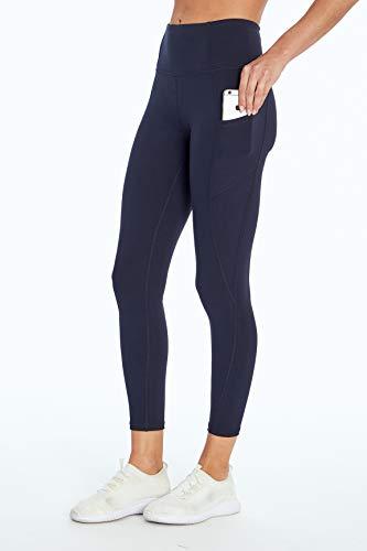 Jessica Simpson Sportswear Tummy Control Pocket Ankle Legging, Midnight Blue, X-Large