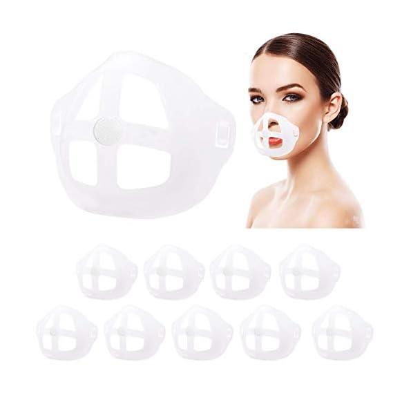 3D-Interner-Halter-Rahmen-fr-Gesichtsschutz-Innenkissen-3D-Halterung-Sttzrahmen-Nasenpolster-Schtzt-Lippenstift-10-Stck