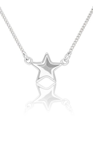 Honolulu Jewelry Company Sterling Silver Star Necklace Pendant and Bracelet with Cable Chain (20 ()