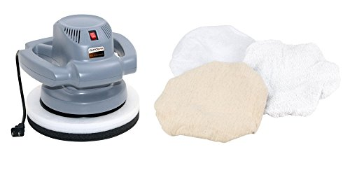 CARRAND Carrand 94001AS AutoSpa 10 Orbital Professional 120 Volt Automotive Polisher Bundle with Wilmar W50056 3pc 10polishing Bonnets