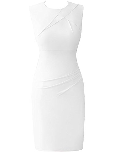 Formal C¨®ctel Marfil Gasa Trajes mujeres Trabajo HUINI de gala Vestidos Corto las De Moda Oficina YFqxF47wB